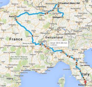 My next few stops