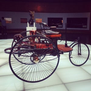 First automobile designed in 1885 by Carl Benz.