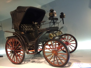 First 4 wheeled automobile