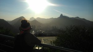 Gazing out at Rio as the sun sets